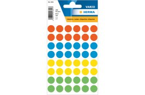 HERMA COLOUR ROUND LABELS D13mm